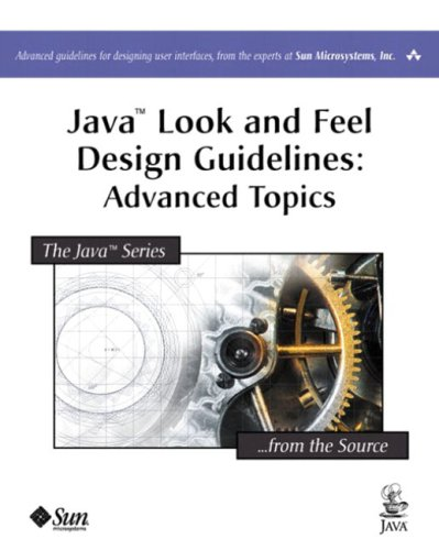 Large book cover: Java Look and Feel Design Guidelines: Advanced Topics