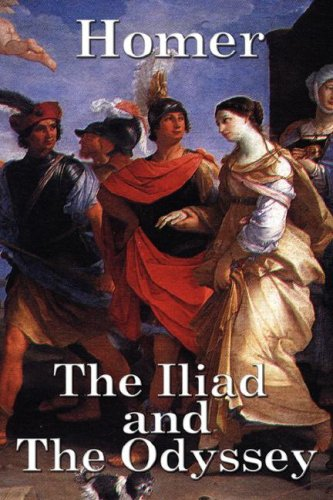 Large book cover: The Iliad and The Odyssey