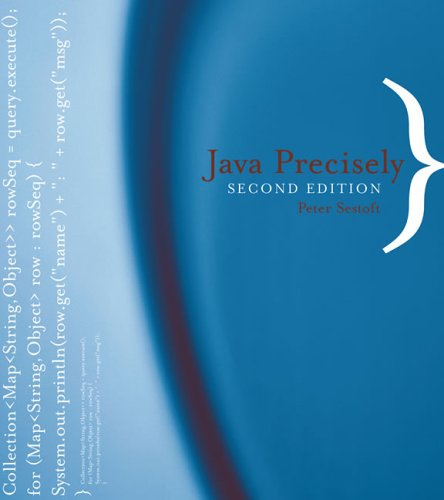Large book cover: Java Precisely