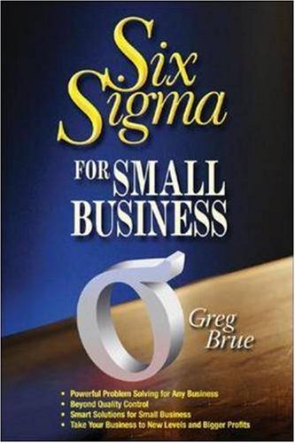 Large book cover: Six Sigma for Small Business