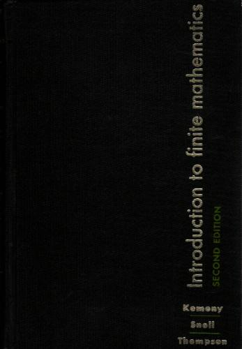 Large book cover: Introduction To Finite Mathematics