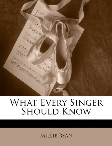 Large book cover: What Every Singer Should Know