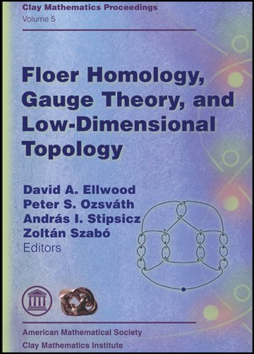 Large book cover: Floer Homology, Gauge Theory, and Low Dimensional Topology