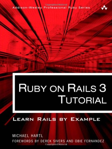 Large book cover: Ruby on Rails Tutorial: Learn Rails by Example