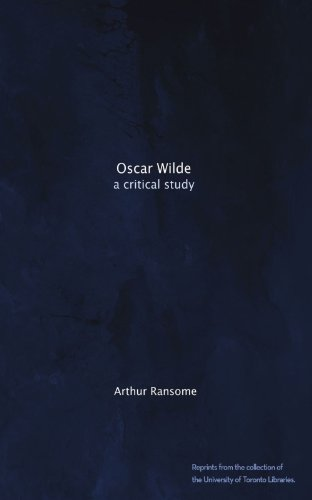 Large book cover: Oscar Wilde: A Critical Study
