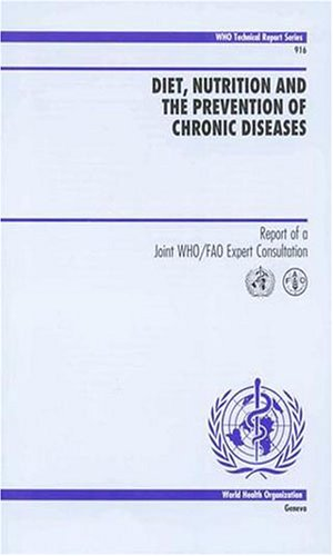 Large book cover: Diet, Nutrition and the Prevention of Chronic Diseases