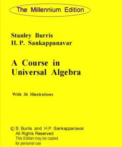 Large book cover: A Course in Universal Algebra