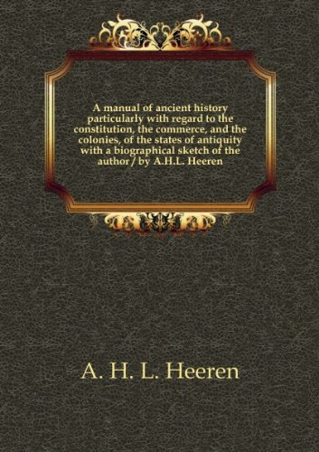 Large book cover: A Manual of Ancient History
