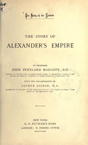 Large book cover: The Story of Alexander's Empire
