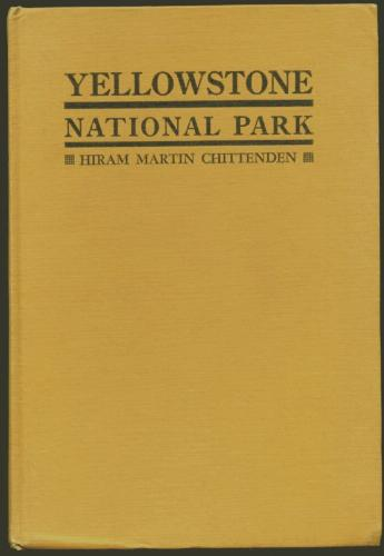 Large book cover: The Yellowstone National Park
