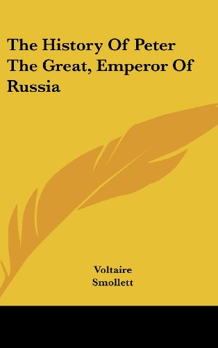 Large book cover: The History of Peter the Great, Emperor of Russia