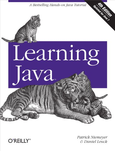 Large book cover: Learning Java