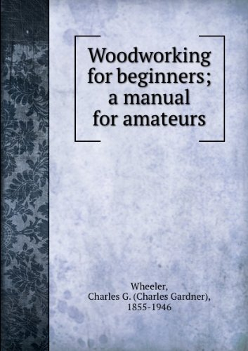 Large book cover: Woodworking for Beginners