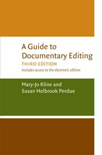 Large book cover: A Guide to Documentary Editing